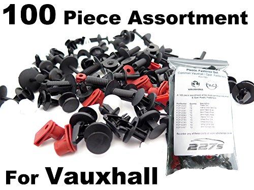 100 Pièces - Garniture En Plastique Assortiment Clip Kit de Montage- Clips communes pour Vauxhall Voitures