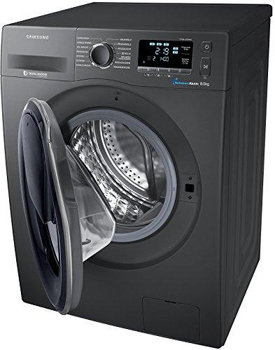 Samsung WW80K6404QX/EG Waschmaschine FL / A+++ / 116 kWh / Jahr / 1400 UpM / 8 kg / Add Wash / WiFi Smart Control / Super Speed Wash / Digital Inverter Motor / anthrazit -