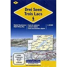 KuF Schweiz Digitale Wanderkarte 09 Drei Seen 1 : 50 000: Interactive - Wanderkarte der Schweiz auf DVD