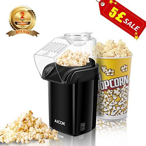 Hot Air Popcorn Maker, Aicok 120...