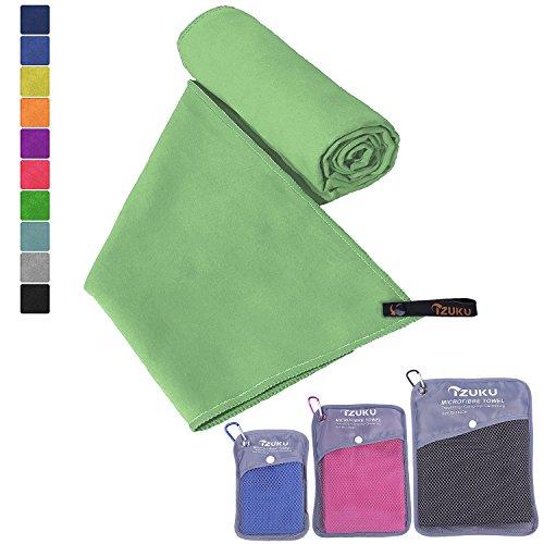 Mikrofaser Handtücher IZUKU® ultraleicht, saugfähig, schnelltrocknend - perfekt als Haushaltshandtuch, Reisehandtuch, Sporthandtuch, Badehandtuch, Saunahandtuch, Strandhandtuch, Schweißtuch usw.