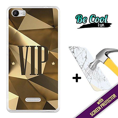 BeCool® Fun- Custodia Gel Flessibile Wiko Fever Cover TPU prodotto col miglior silicone, protegge e si adatta alla perfezione al tuo Smartphhone e oltrettutto ha il nostro disegno esclusivo Figura Sono VIP [ + 1 Pellicola Protettiva Vetro ]