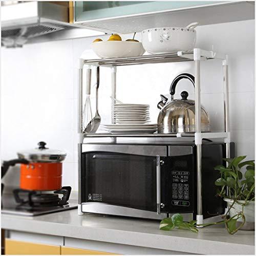 ZinESaya Multifuncional Horno de microondas Estante Estante Soporte de cocina de tipo ajustable de pie...
