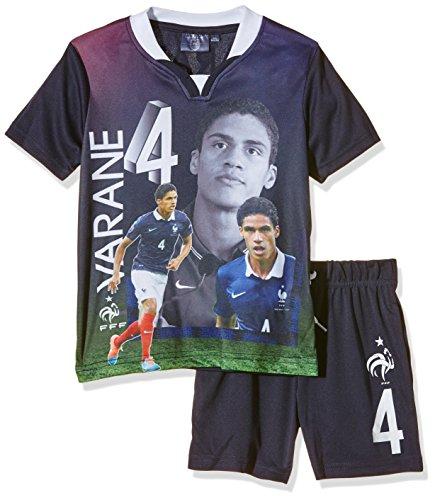 FFF EP1002 Varane Conjunto de 2 piezas, pantalones cortos y camiseta de manga corta para niño, traje, color azul, tamaño FR : 6 ans (Taille Fabricant : 6Y)