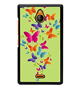 printtech Butterfly Back Case Cover for Nokia X2 Dual SIM