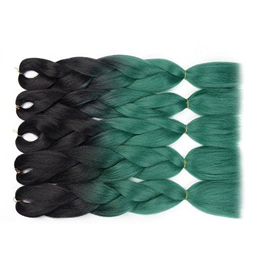 OneTree Haarverlängerung, 6Pcs/Lot, , Black/Dark Green