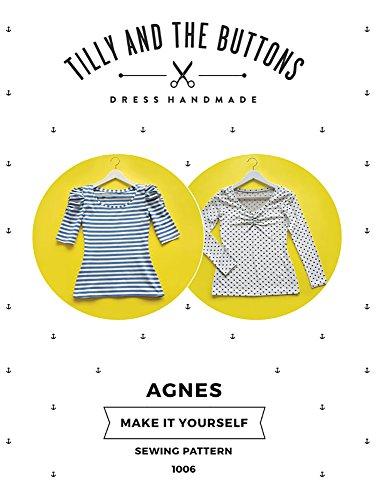 Tilly und die Knöpfe Agnes Jersey Top Schnittmuster (Jersey Stitch-pullover)