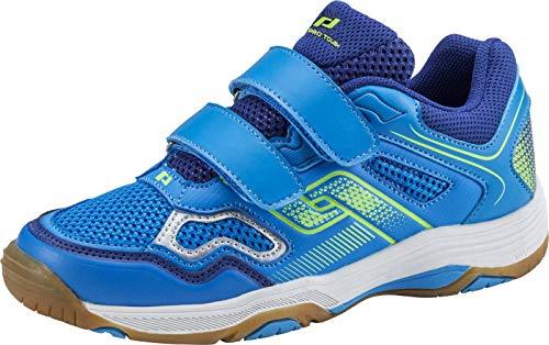 Pro Touch Unisex-Kinder Rebel II Jr. Klett Multisport Indoor Schuhe, Blau (Blue/Navy/Green Lime 000), 39 EU