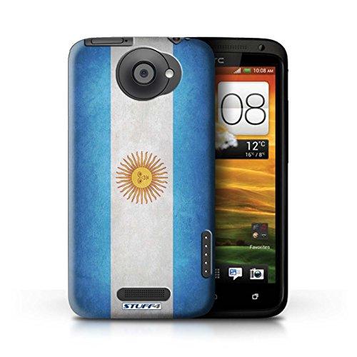 Kobalt® Imprimé Etui / Coque pour HTC One X / Pays de Galles/gallois conception / Série Drapeau Argentine/argentin