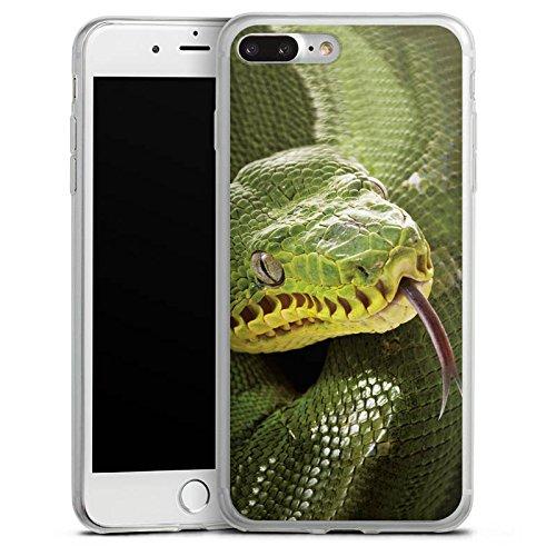 Apple iPhone 8 Slim Case Silikon Hülle Schutzhülle Natter Schlange Snake Silikon Slim Case transparent