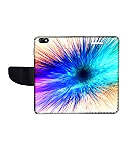 KolorEdge Printed Flip Cover For Huawei Honor 4X Multicolor -(55KeMLogo12368Honor4X)