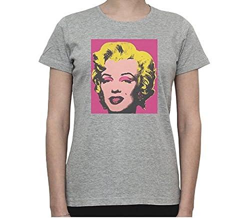 Marilyn Monroe by Andy Warhol Pop Art Women's T-Shirt Large