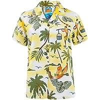Nuovo donna Vero Volto hawaiana tropicale spiaggia Forte Fancy Shirt da donna