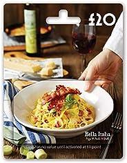 Bella Italia £20 Gift Card - Post