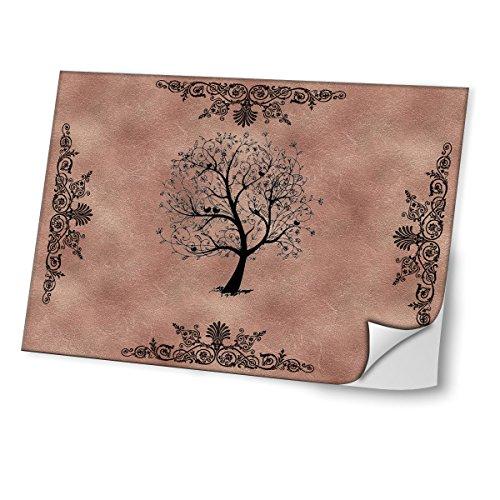 Melody 10007, Baum, Skin-Aufkleber Folie Sticker Laptop Vinyl Designfolie Decal mit Ledernachbildung Laminat und Farbig Design für Laptop 15.6