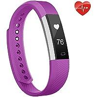 moreFit Slim fitness tracker pulsmesser, Smart Uhr Fitness Armbanduhr Schlafüberwachung Aktivität Fitness Tracker Herzfrequenz,Schrittzähler Uhr für Damen,Herren Iphone6/Iphone7