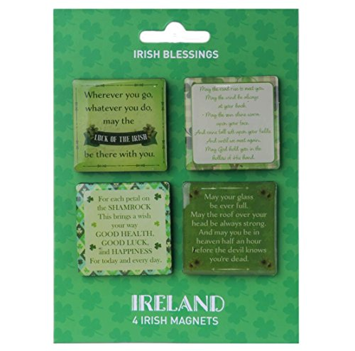 4 Pack Of Magnets With 4 Different Beautiful Irish Blessings Design -