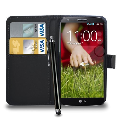 lg-g2-leather-wallet-flip-case-cover-pouch-touch-stylus-pen-screen-guard-cleaning-cloth-black