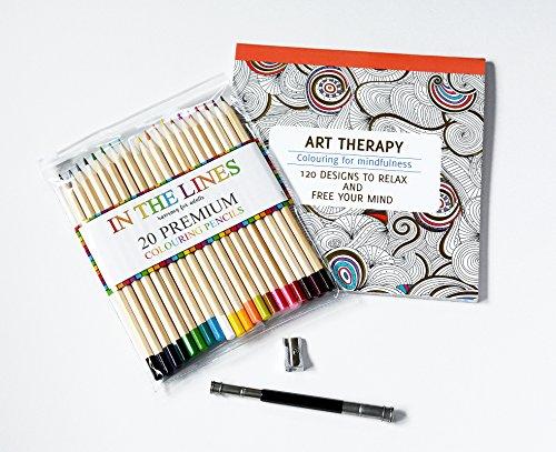 Libro Da Colorare Per Adulti, Con Set Di 20Premium Colorazione Matite, Temperamatite e matita Extender by Minitbuy-Il regalo perfetto set presentare qualcuno ti piace Art Therapy
