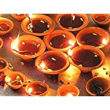 CoolKart Set Of 21 Beautiful Traditional Terracotta Diyas For Diwali Decorative