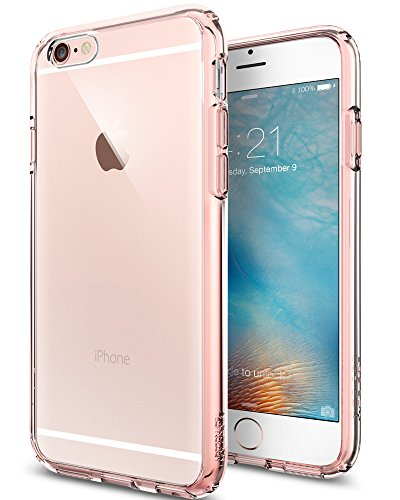 igen® [Ultra Hybrid] Luftpolster-Technologie [Rose Crystal] Durchsichtige Rückschale und TPU-Bumper Schutzhülle für iPhone 6/6S Case, iPhone 6/6S Cover - Rose Crystal (SGP11722) (Iphone 6 Hybrid Case)