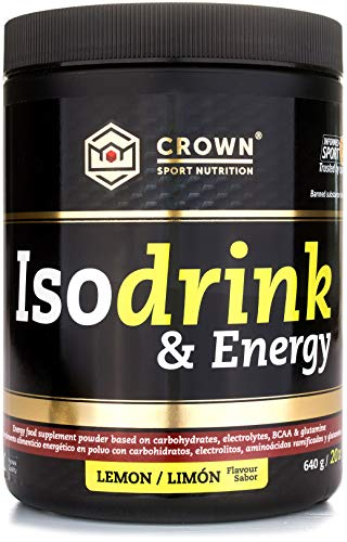 Crown Sport Nutrition Isotonic Drink, Bebida isotónica con carbohidratos, BCAAs,...