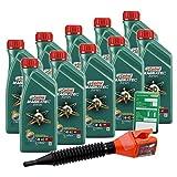 10x 1 L = 10 Liter Castrol Magnatec Diesel 5W-40 DPF Motor-Öl inkl. Ölwechsel-Anhänger und Einfülltrichter