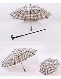 TAIDUJUEDINGYIQIE Paraguas Creativo, Paraguas de caña Vieja, Separable, Paraguas de Mango Largo,
