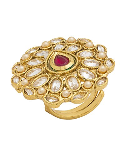 Colors TV Navrang Collection Octagon Shape Crystal Ring by Voylla