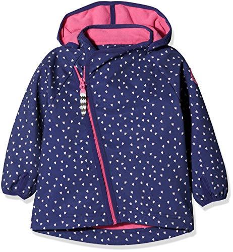 Racoon Racoon Baby-Mädchen Jacke Mille Softshelljacke (Wassersäule 5.000), Mehrfarbig Ribbon Blu, 74