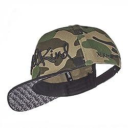 Nebelkind Unisex Snapback Cap Camouflage Verdrehter Schirm Kappe Grün One Size