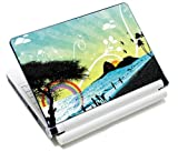 MySleeveDesign Notebook Skin Aufkleber Folie Sticker für Geräte der Größe 10,2 Zoll / 11,6-12,1 Zoll / 13,3 Zoll / 14 Zoll / 15,4-15,6 Zoll mit VERSCH. DESIGNS - Beach