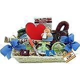 Krankenschwester Geschenk-Korb Präsent-Korb (6082) mit Delikatessen und Süßigkeiten, Spritze, antistress Figur Knautschi SQUEEZIES®