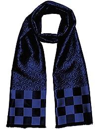 LORENZO CANA High End Luxus Schal aus 100% Seide aufwändig jacquard gewebt Damast Seidenschal Seidentuch Tuch 25 x 160 cm