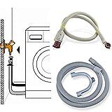 Stabilo-Sanitaer Anschluss-Set Sicherheits Zulaufschlauch 3/4 Zoll 2m Anschlußschlauch Schlauch Waschmaschine Aquastop Platzsicherung Ablaufschlauch