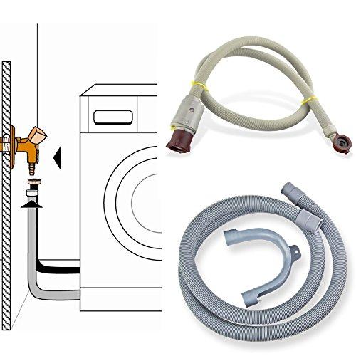 Stabilo-Sanitaer Anschluss-Set Sicherheits Zulaufschlauch 3/ 4 Zoll 2m Anschlußschlauch Schlauch Waschmaschine Aquastop Platzsicherung Ablaufschlauch