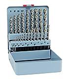 Bohrer/HSS Cobalt Forte Spiralbohrersatz KM 25, 25-teilig | 5% kobaltlegiert mit sehr hoher thermischer Belastbarkeit, für größere Bohrtiefen geeignet, punktgenau | Ø 1 – 13 mm, 0,5 stg.