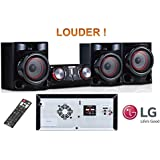 LG Electronics Lg Cj45-720W Rms Louder HiFi Entertainment System With Bluetooth Connectivity/Cd / Fm PLL/Karaoke Creator/Multiple Connection/Semi Light Show/Twin USB/Full Function Remote Control