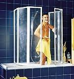 Schulte D1700 Badewannenfaltwand Badewannenaufsatz Duschwand 2x3-tlg. 2x1040x1400