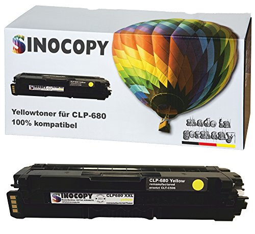 SinoCopy XXL Yellow Toner für Samsung CLP-680 Y 3.500 Seiten kompatibel zu Samsung CLP-680 DW ND Series CLX-6260 FD FR FW ND - CLT-K506L C506L M506L Y506L -