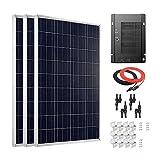 Giosolar 300W, hocheffizient, Solarpanel Solar PV PANEL 40A MPPT-Solar-Regler für Wohnmobil, Wohnwagen, Camper, Boot/Yacht