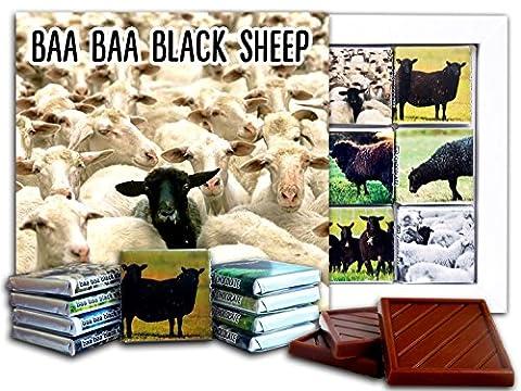 DA CHOCOLATE Candy Souvenir BAA BAA BLACK SHEEP Chocolate Gift Set 13x13cm 1 box (Sheeps)