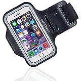 DBPOWER Sport Armband Hülle Tasche für iPhone 6/iPhone 6s/Galaxy S3/S4/S5 Anpassbar Schweißbeständig Smartphone Armband mit Kopfhöreranschluss und Schlüsselring für Bewegung, Laufen, Jogging