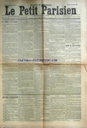 PETIT PARISIEN (LE) [No 5201] du 24/01/1891 - LES CANONS A TIR RAPIDE LE CONSEIL SUPERIEUR DU TRAVAIL LA CENSURE LE DRAME DE VILLE-D'AVRAY LES DEUX MADELEINE par Collectif