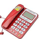 Telephone Telefon, Festnetztelefon, Home Office, Anrufer-ID, Freisprechen, Laute Lautstärke (rot/weiß)