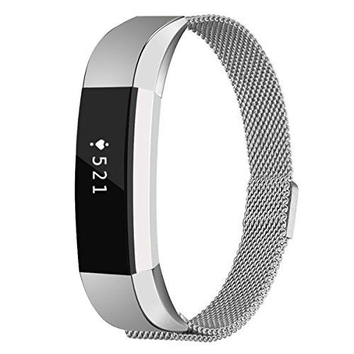 fitbit alta metallarmba,Fitbit-Alta-HR-2-Armband,Milanese Armband für Fitbit Alta, Milanese Loop-Magnetverschluss, Alternativ-/Austauscharmband, Edelstahl mit verstellbarem Verschluss, klein/groß