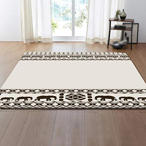 Price comparison product image ORPERSIST Rectangle Carpet, Geometric Design Area Rug, Living Room Bedroom Sofa Coffee Table Mats Bedside Area Rug, A1 Style,99.1 * 152.4cm
