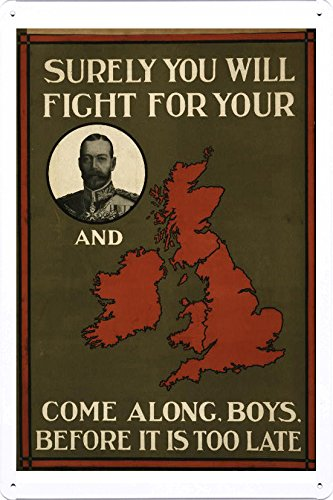 world-war-i-one-tin-sign-metal-poster-reproduction-of-surely-you-will-fight-for-your-portrait-of-kin