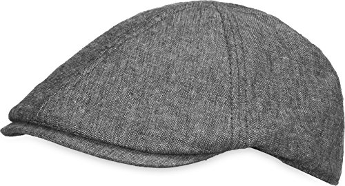 Unisex Sommer Gatsby Cap Baskenmütze Schiebermütze Schirmmütze Beret Herren Damen Verstellbar Kappe Farbe Grau