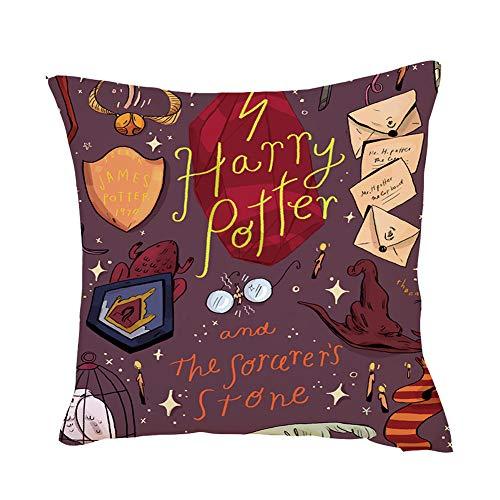 EisEyen - Funda para cojín 40 x 40 cm 45 x 45 cm, diseño de Taza de Harry Potter